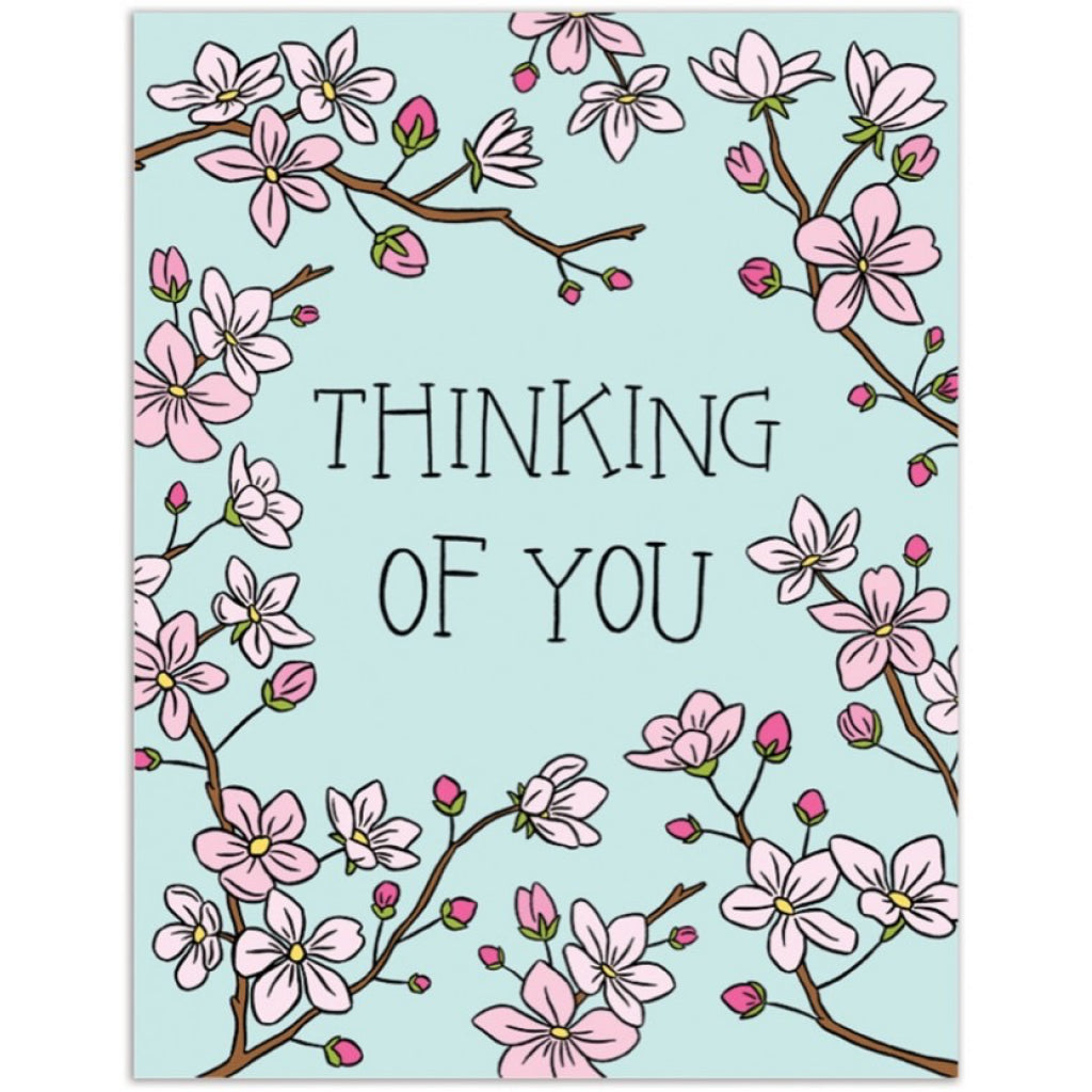 Cherry Blossoms Thinking of You Card