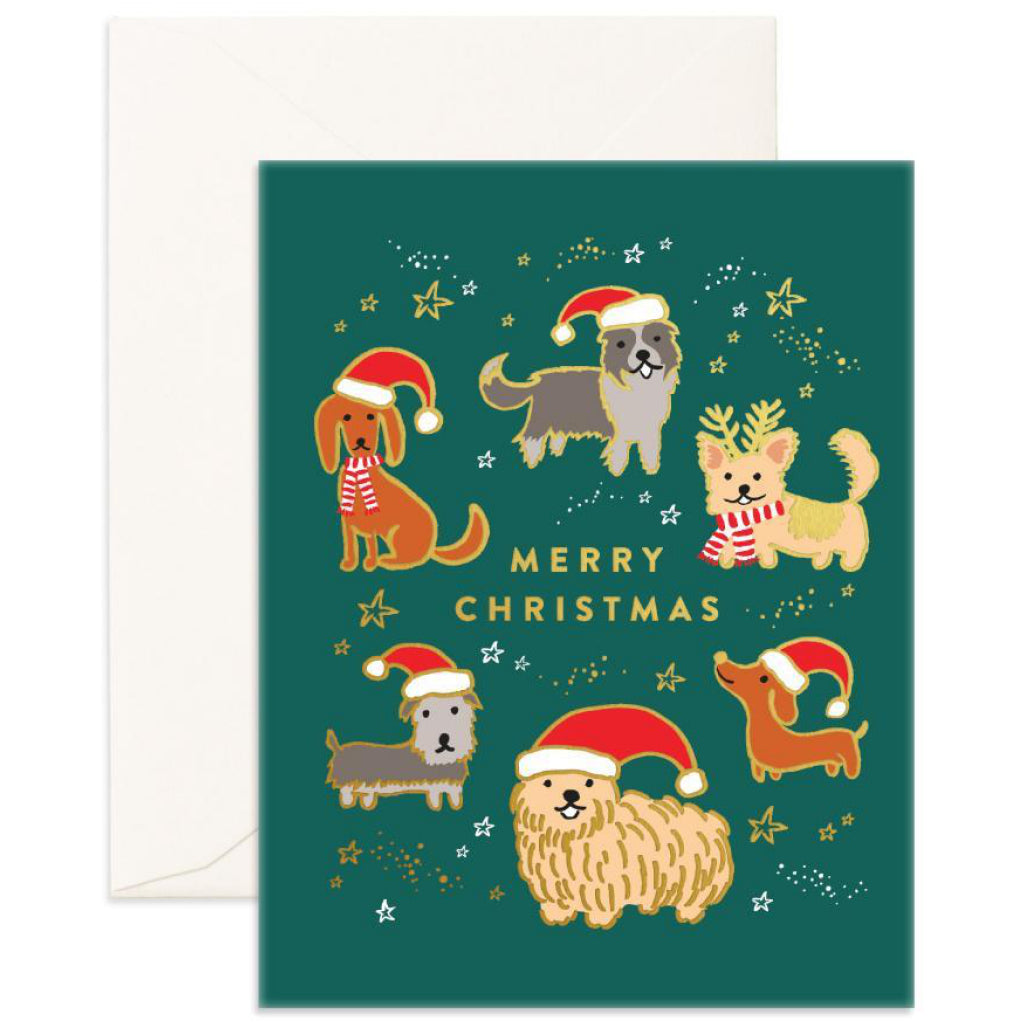 Christmas Dogs Card