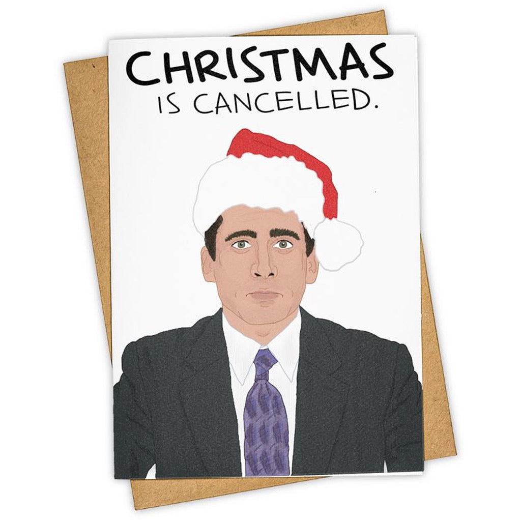 Christmas Is Cancelled The Office Card