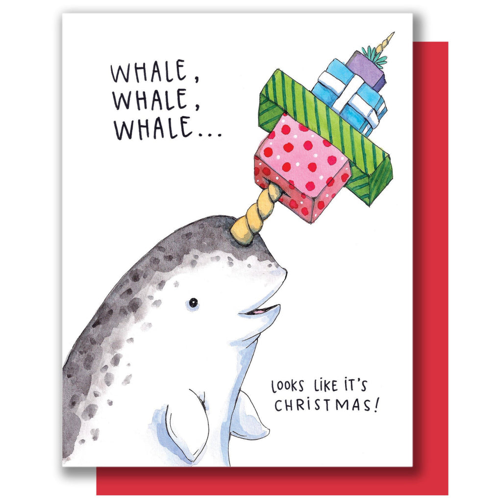 Christmas Narwhal Card