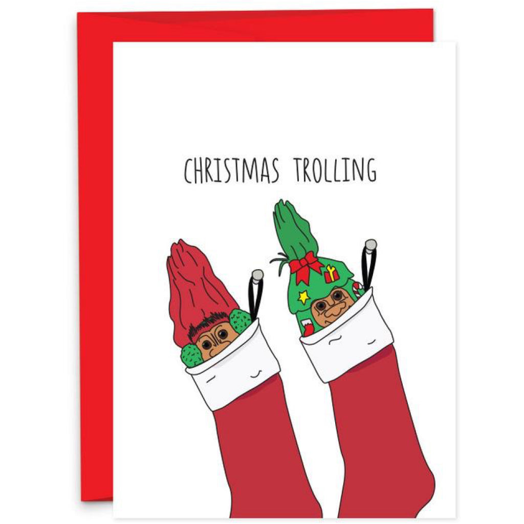 Christmas Trolling Card