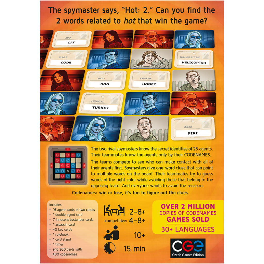 Codenames Back view