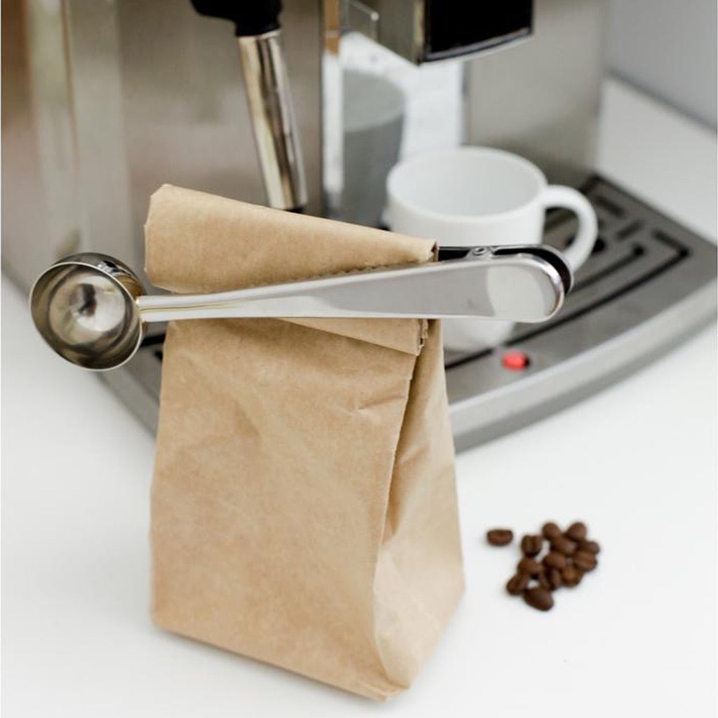 Coffee Scoop Bag Clip In Use