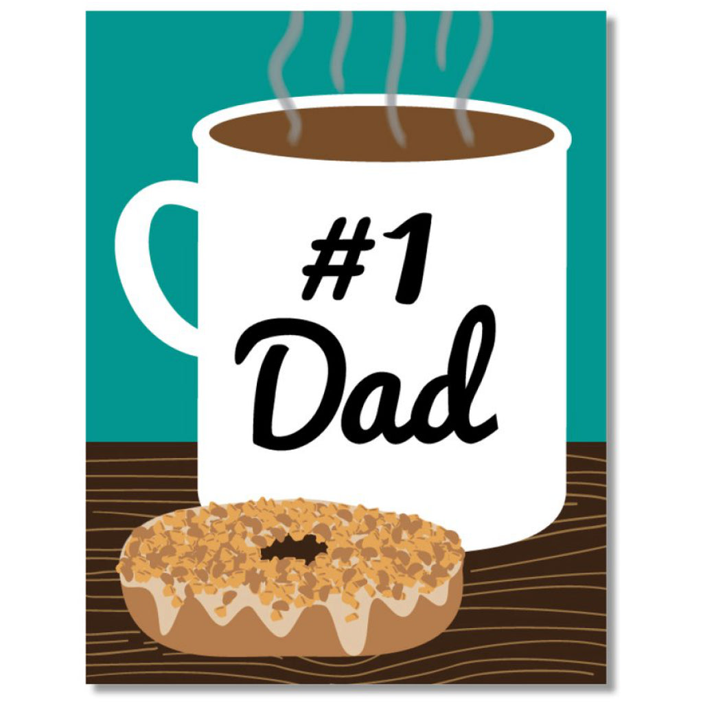 Coffee & Donut #1 Dad Card