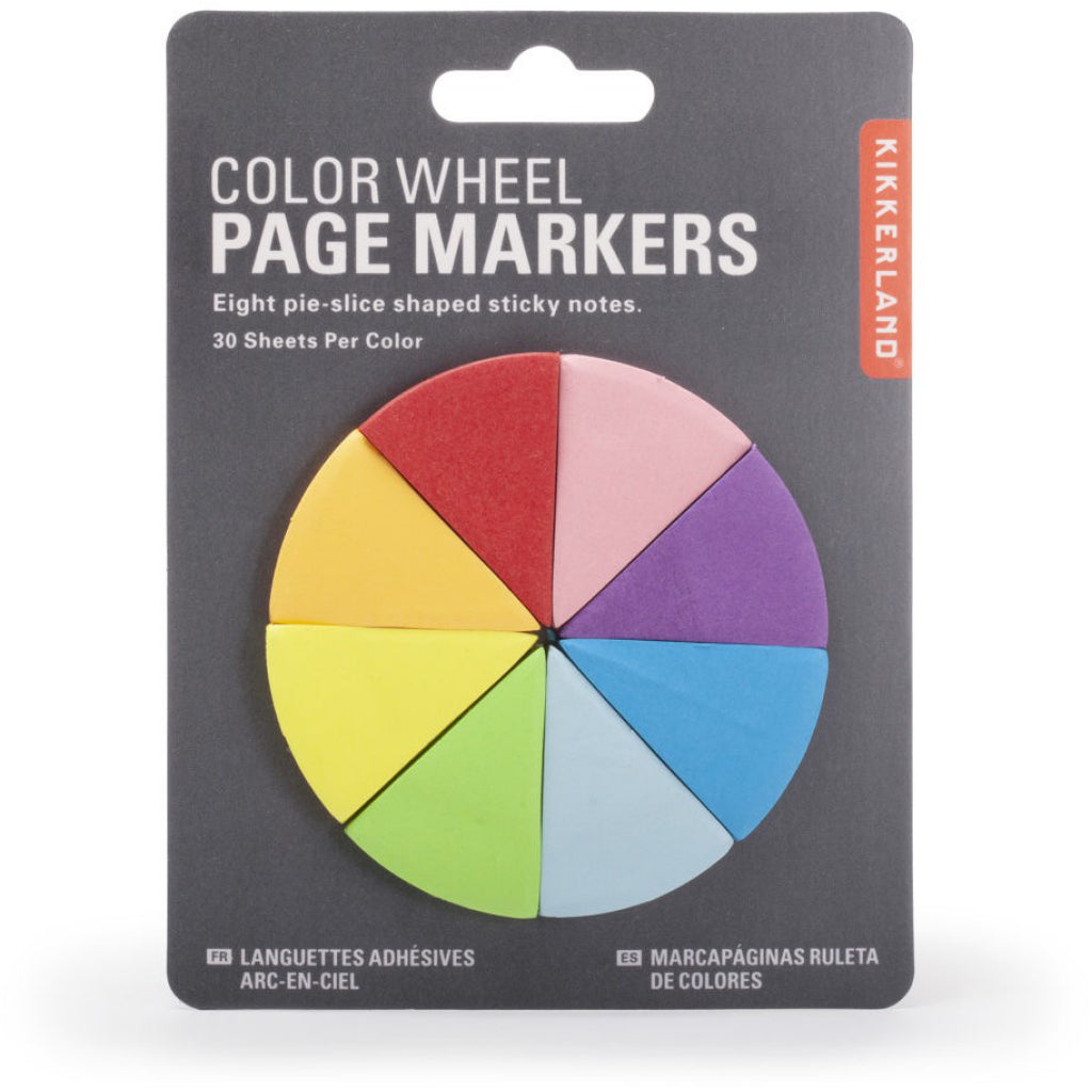 Color Wheel Page Markers Packaged