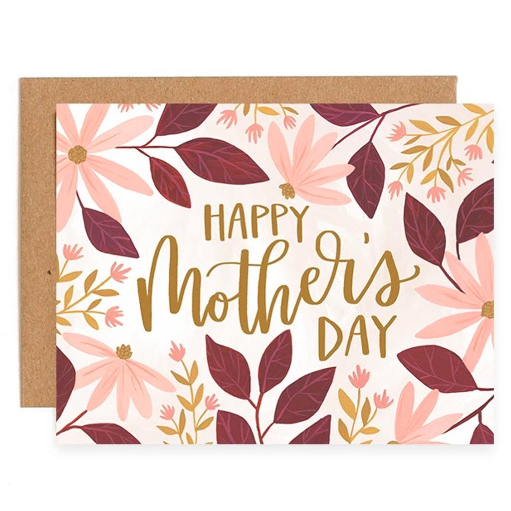 Coneflower Pink Mother's Day Card