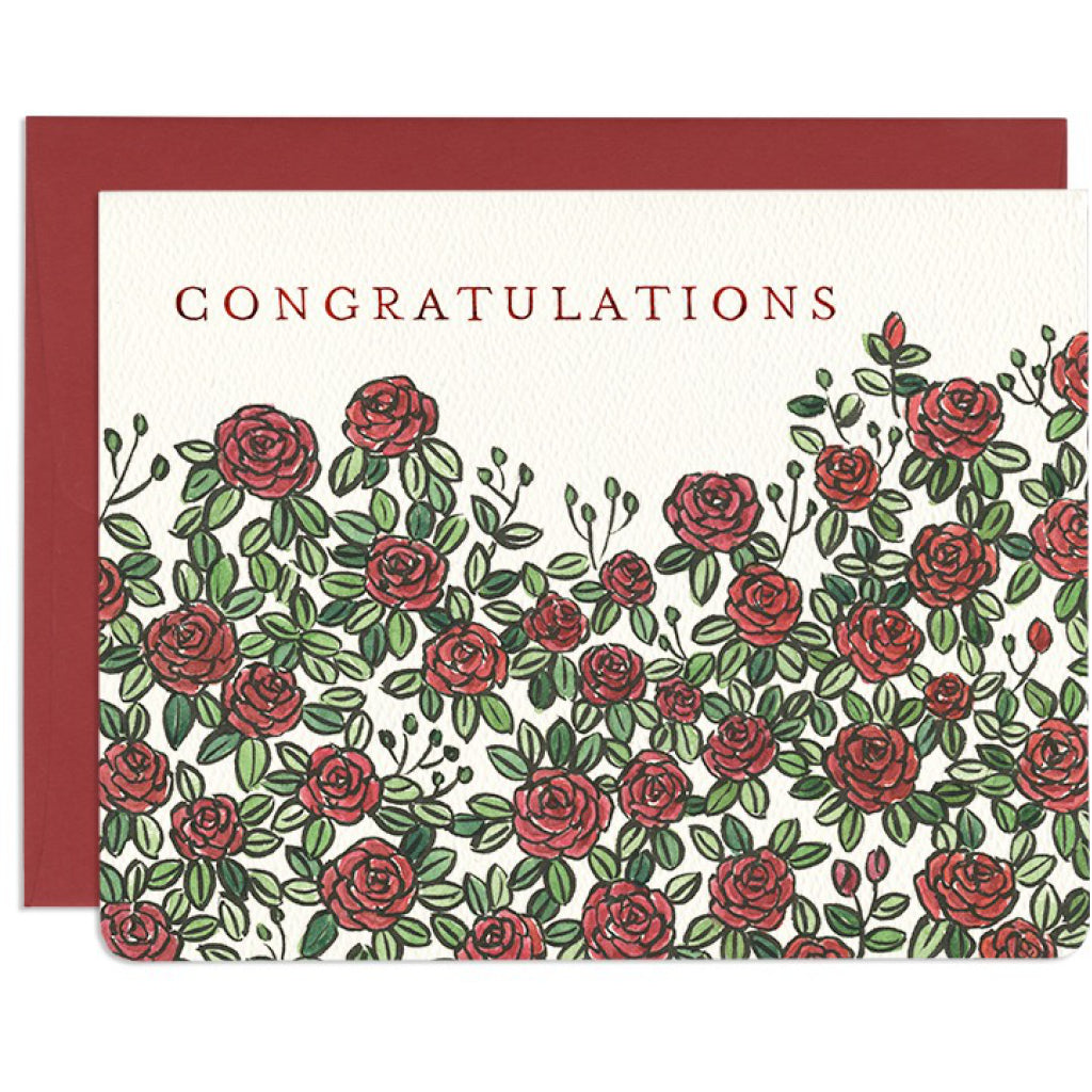 Congratulations Roses Card