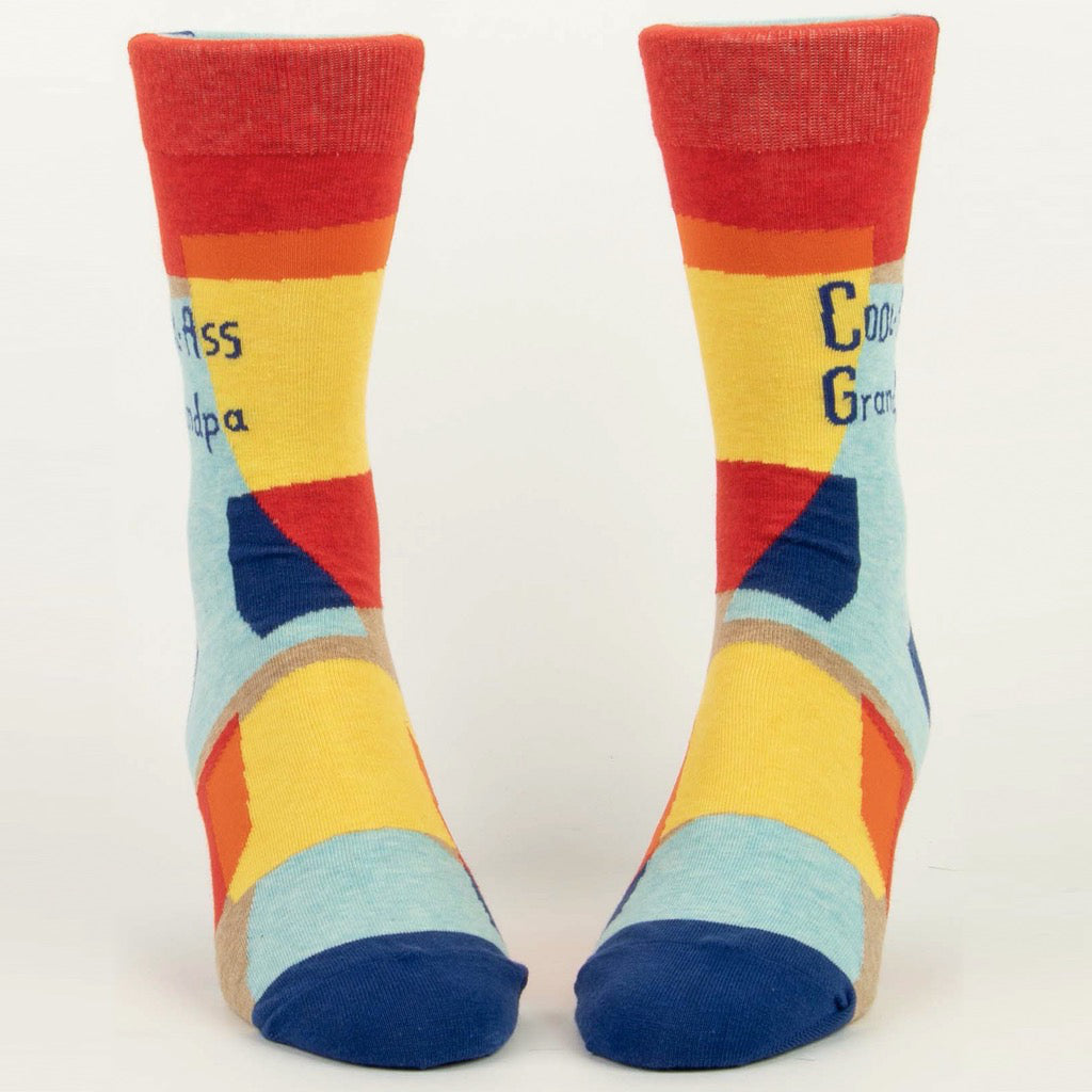 Cool-ass Grandpa Men's Socks Front view