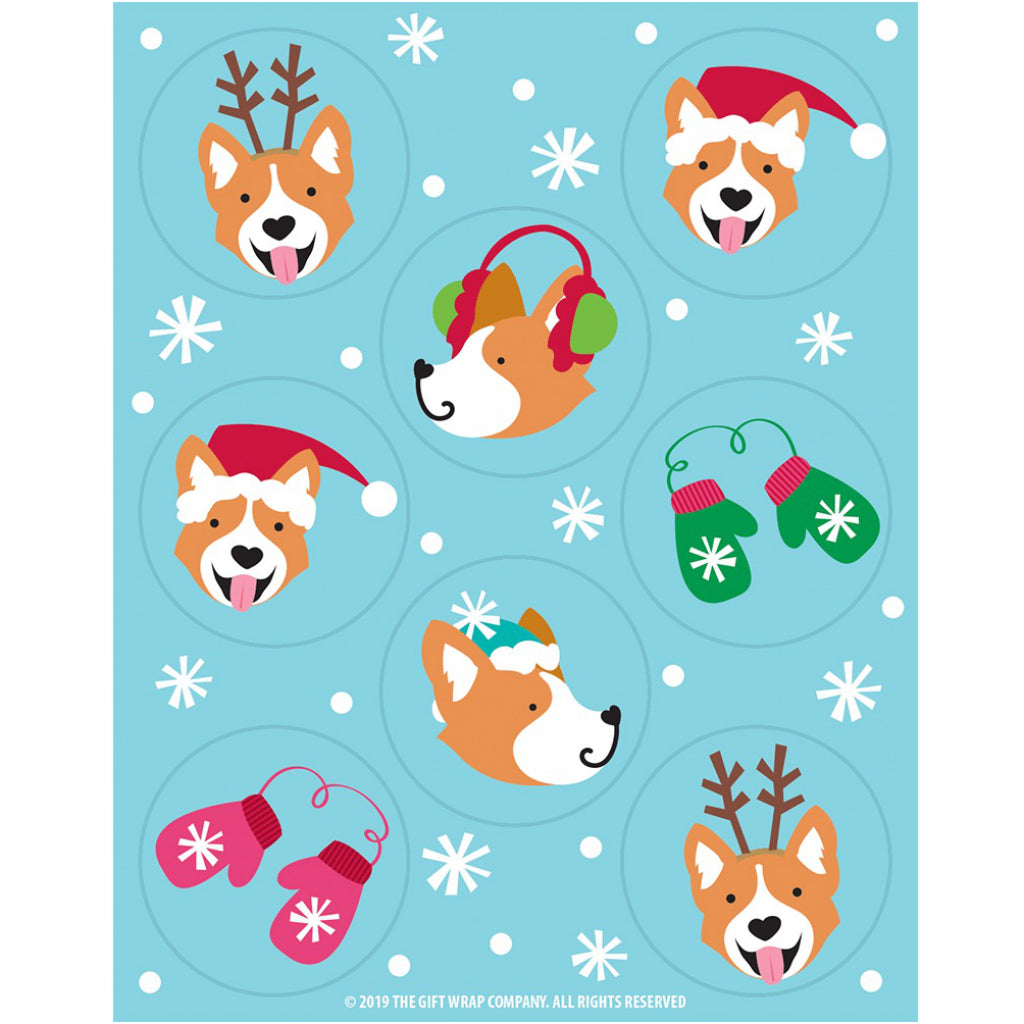 Corgi Christmas Wishes Boxed Christmas Cards Stickers