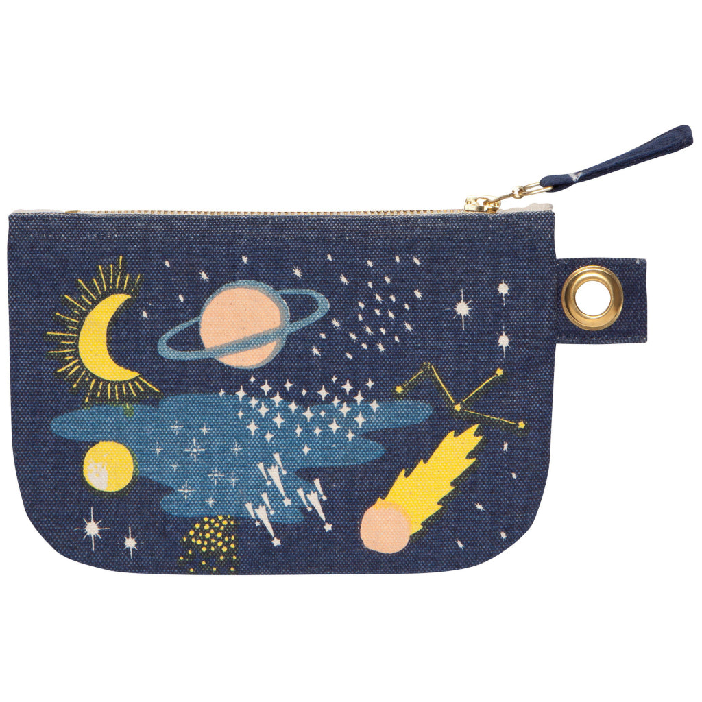 Cosmic Small Zipper Pouch Reverse