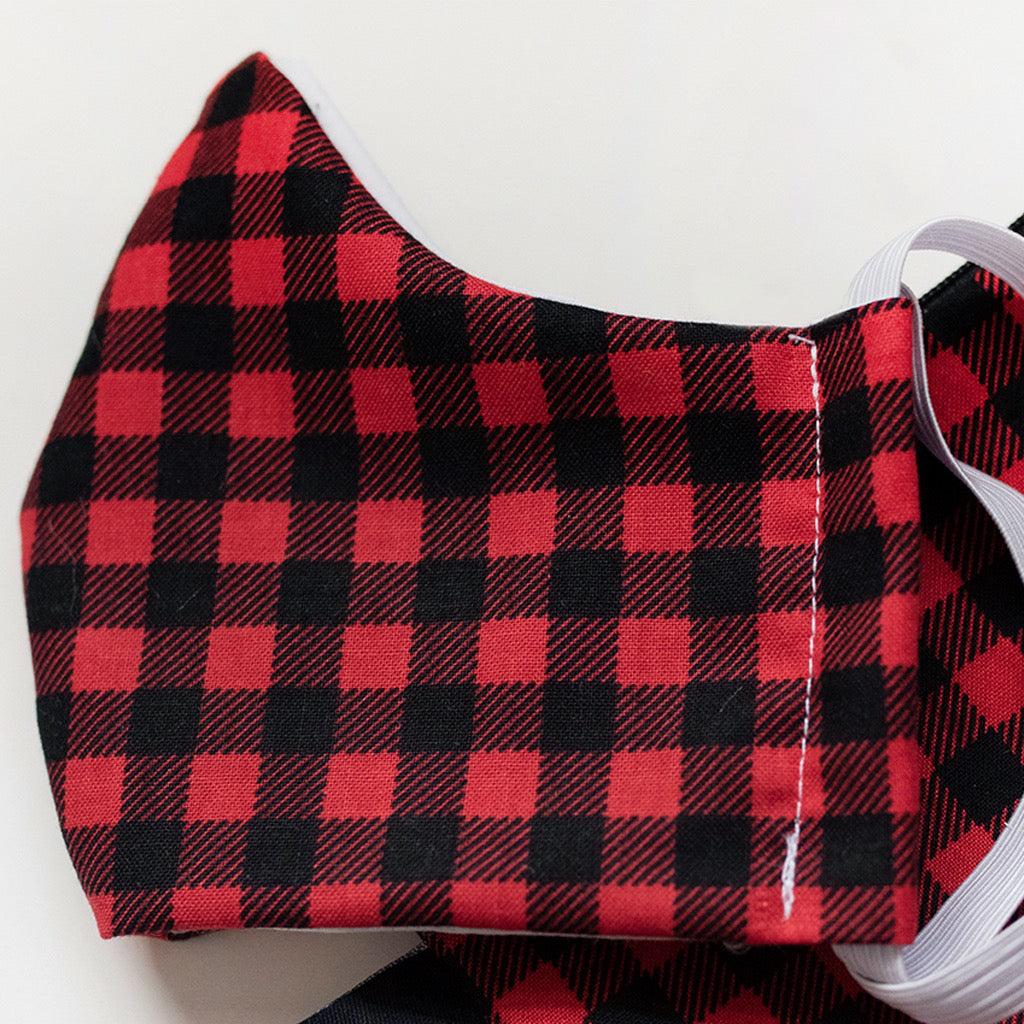 Cotton Face Mask Buffalo Plaid