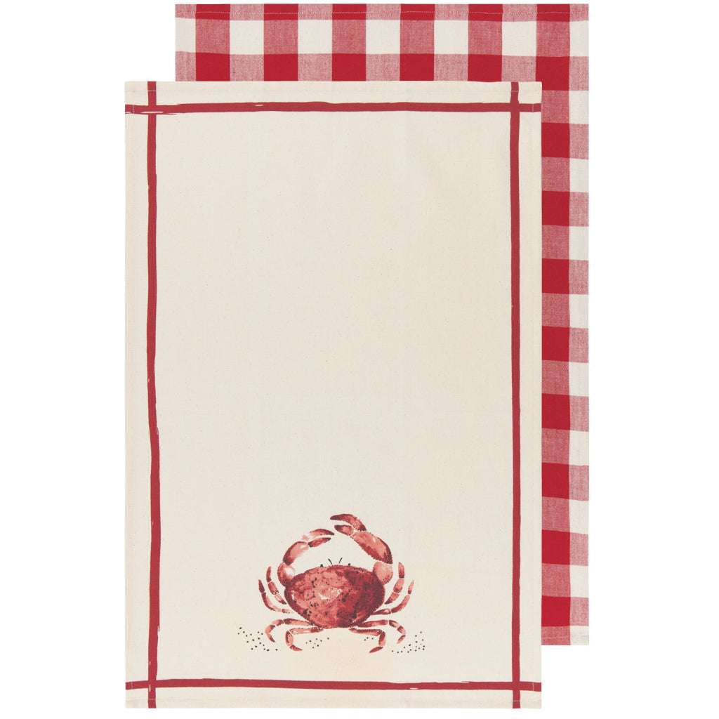 Crab Tea Towels Set of 2