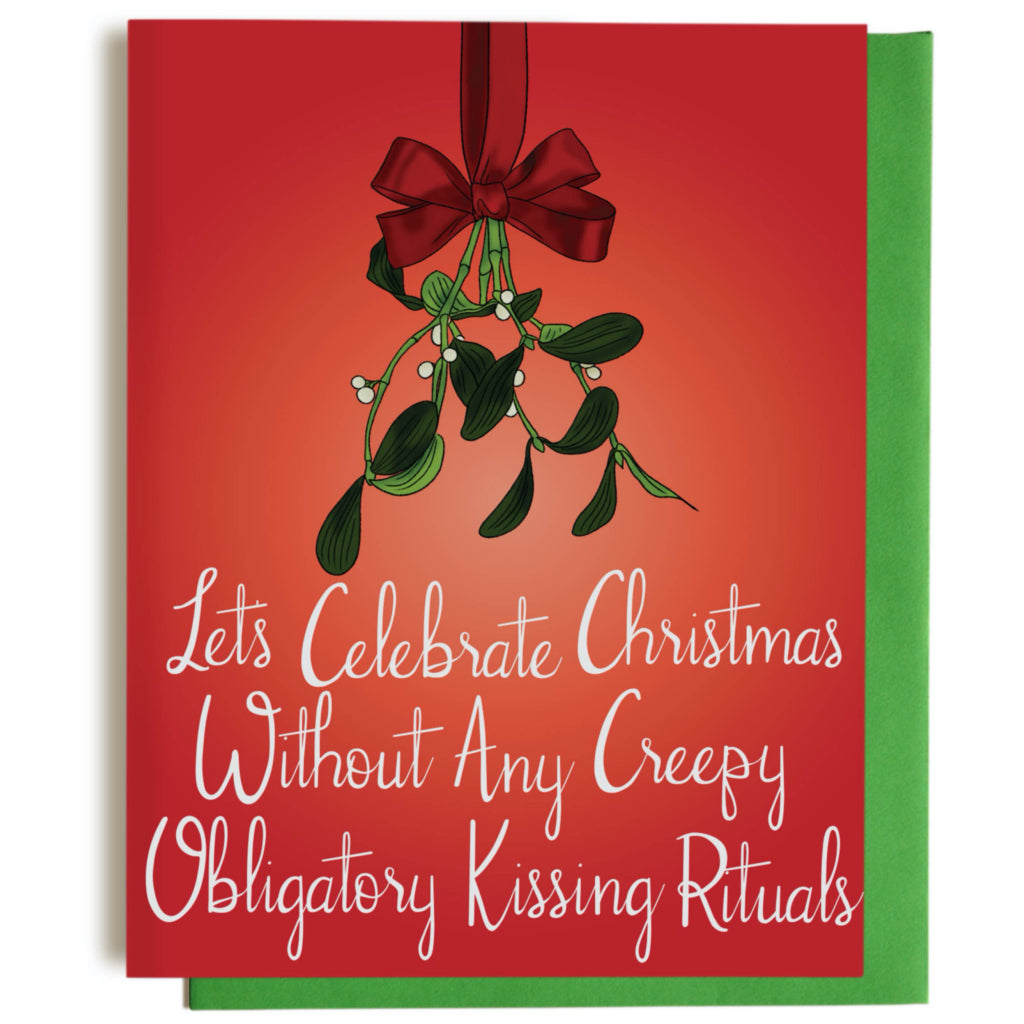 Creepy Mistletoe Christmas Card
