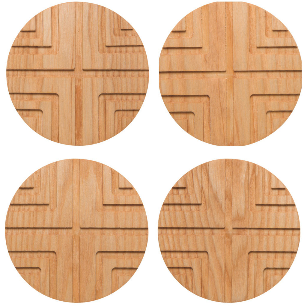 Cross Geo Coasters Set of 4