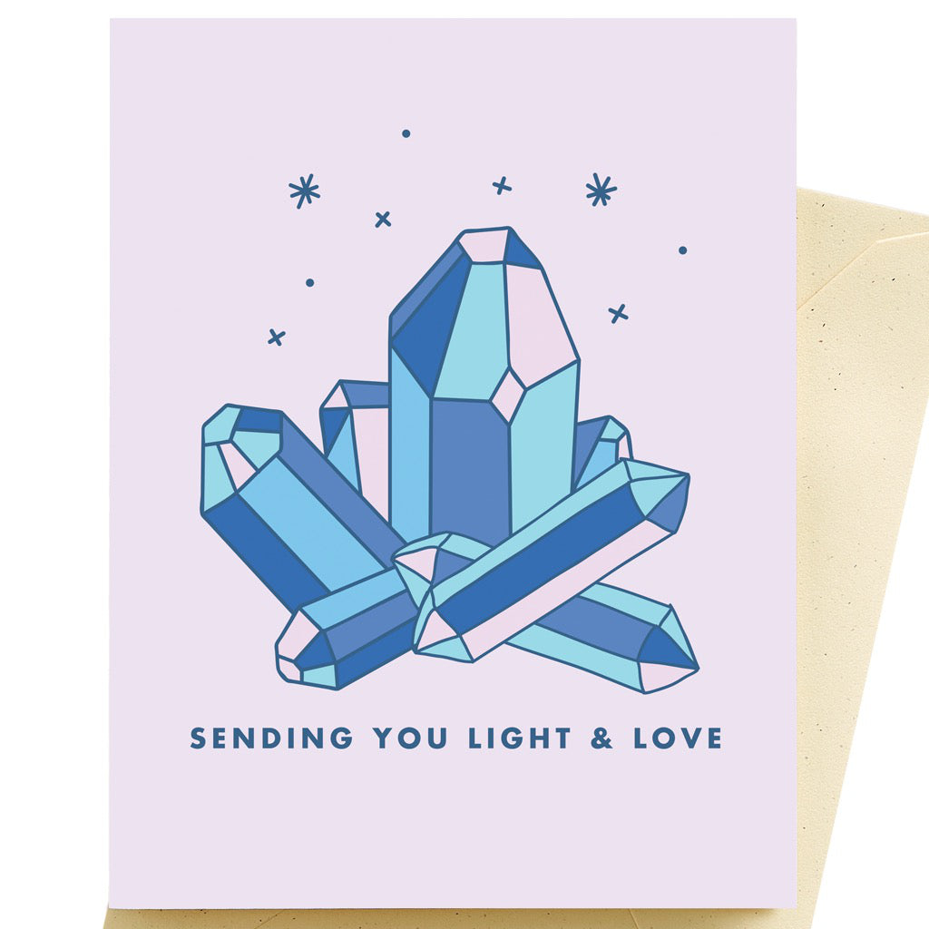 Crystals Get Well Card