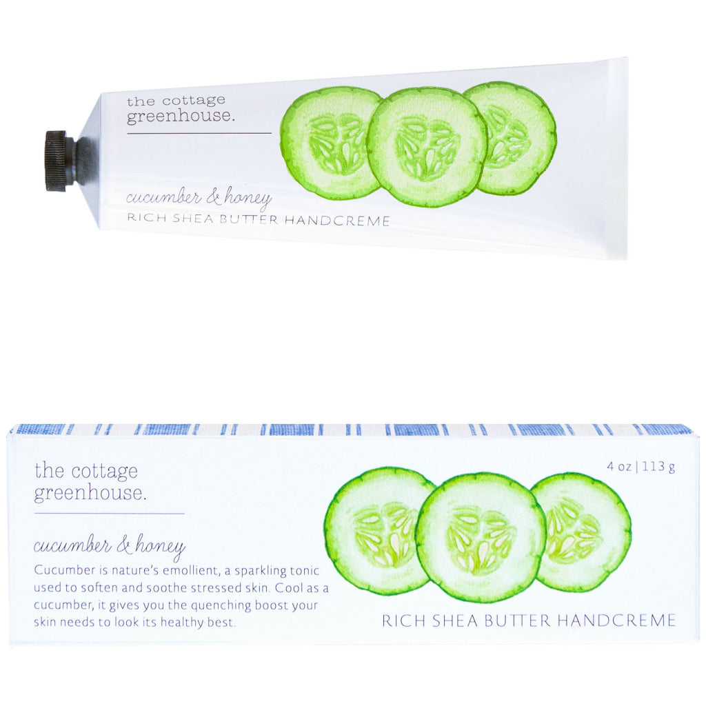 Cucumber cream to soften and smooth.