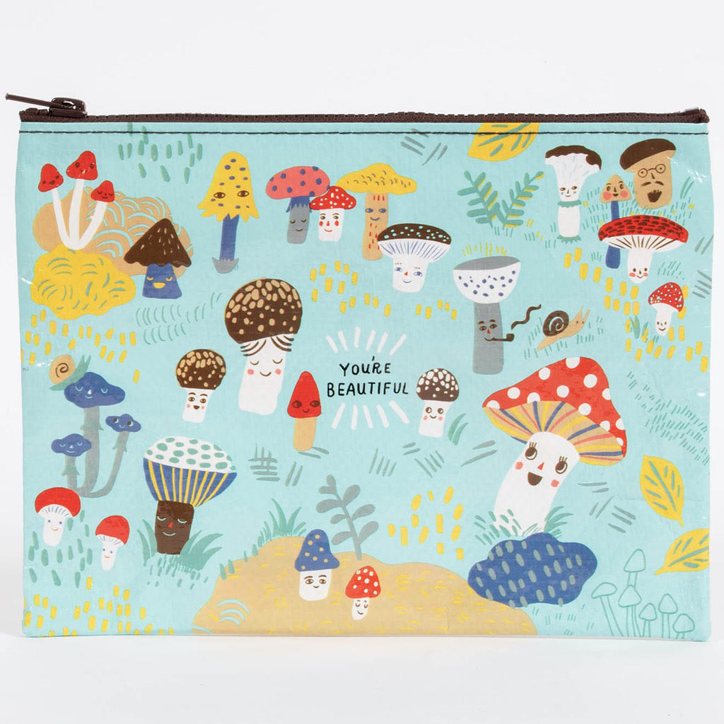 Cute Lil Mushrooms Zipper Pouch
