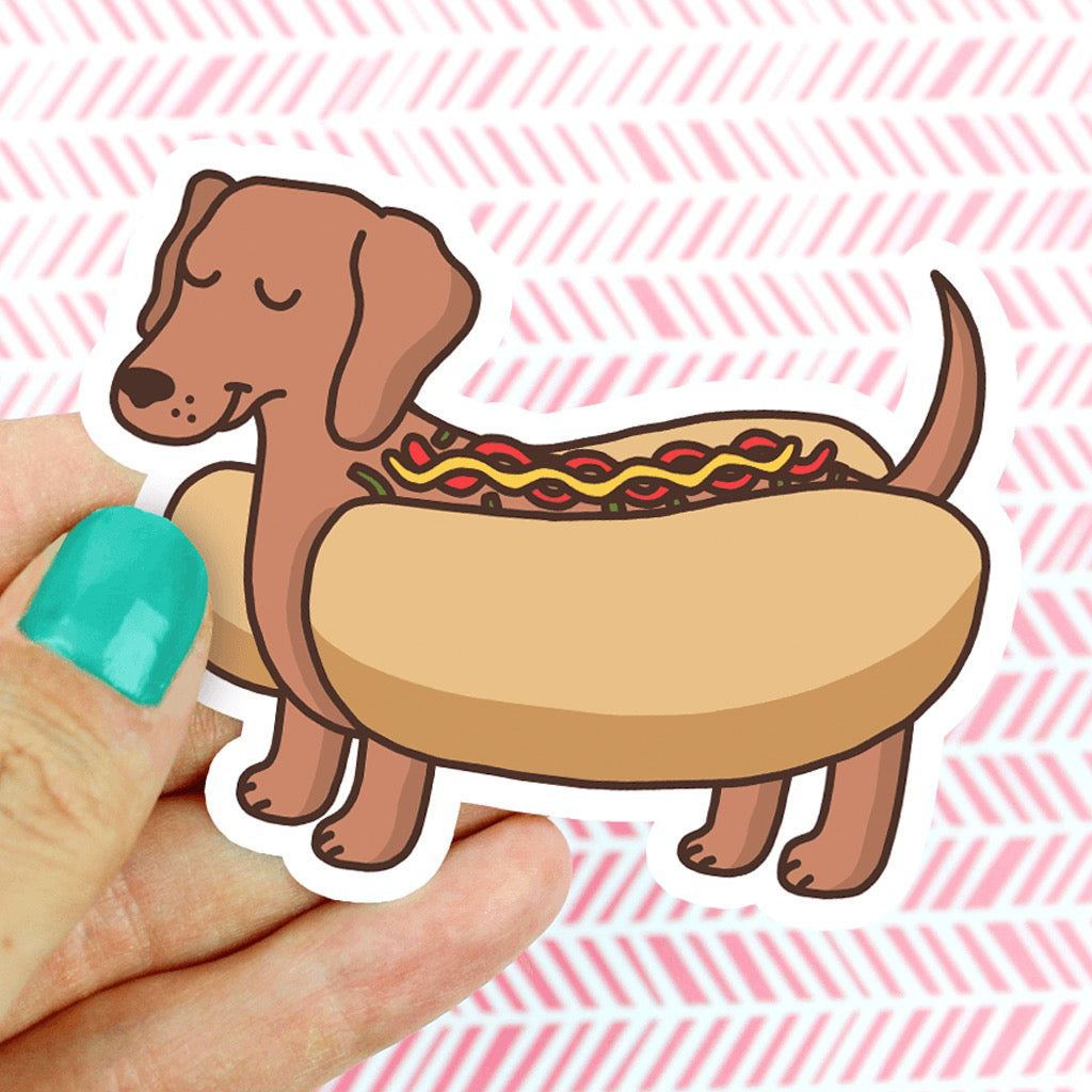 Dachshund Hot Dog Sticker