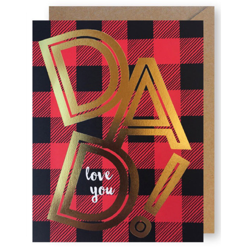 Dad Plaid And Gold Card