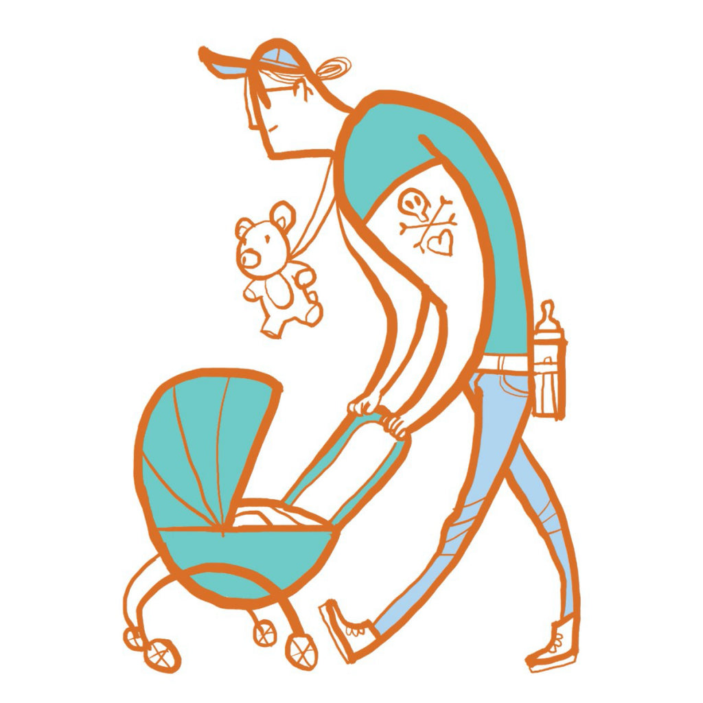 Dad With Stroller Card