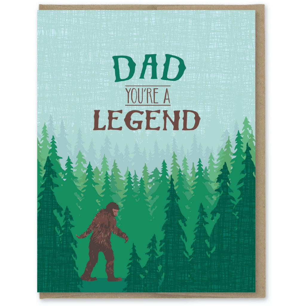 Dad You're A Legend Big Foot Card