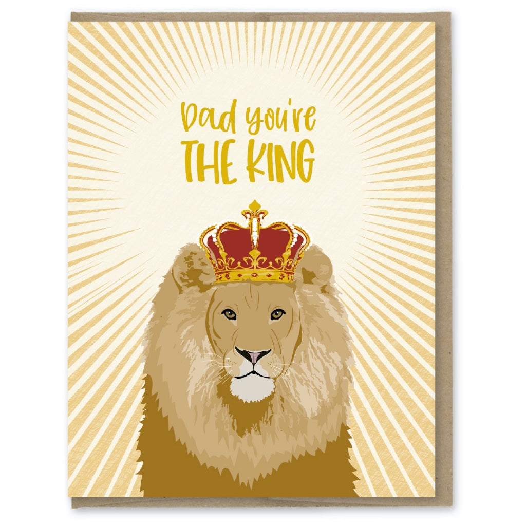 Dad You're The King Lion Card