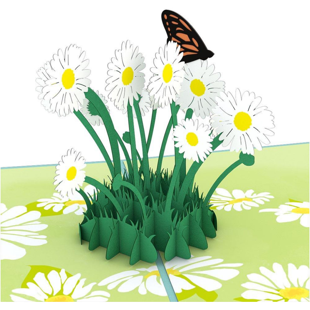 Daisy Patch 3D Pop Up Card