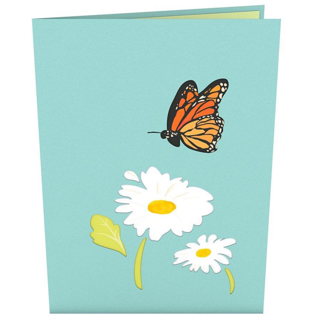 Daisy Patch 3D Pop Up Card Front