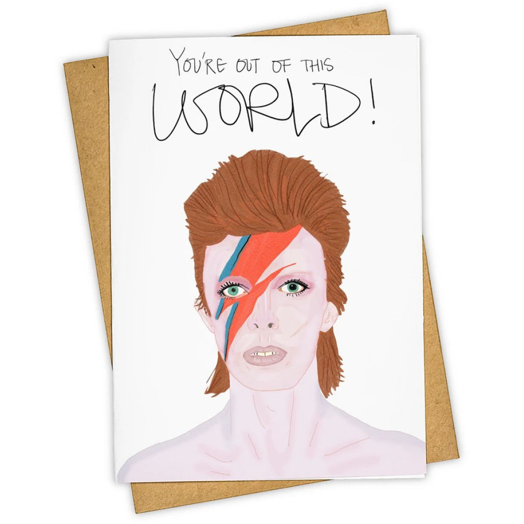 David Bowie Out Of This World Card