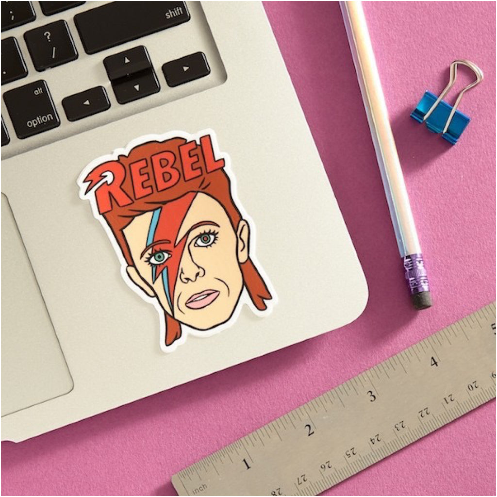 David Bowie Sticker Lifestyle