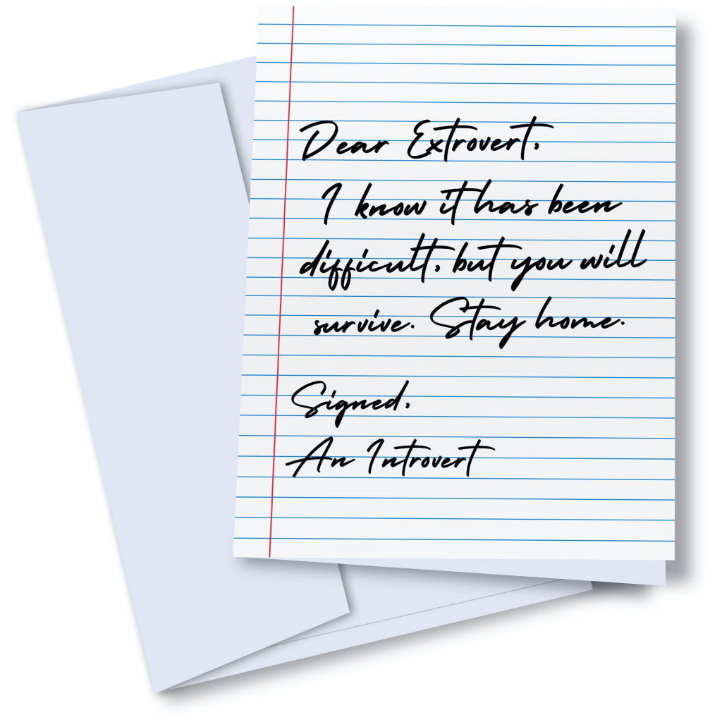 Dear Extrovert Card