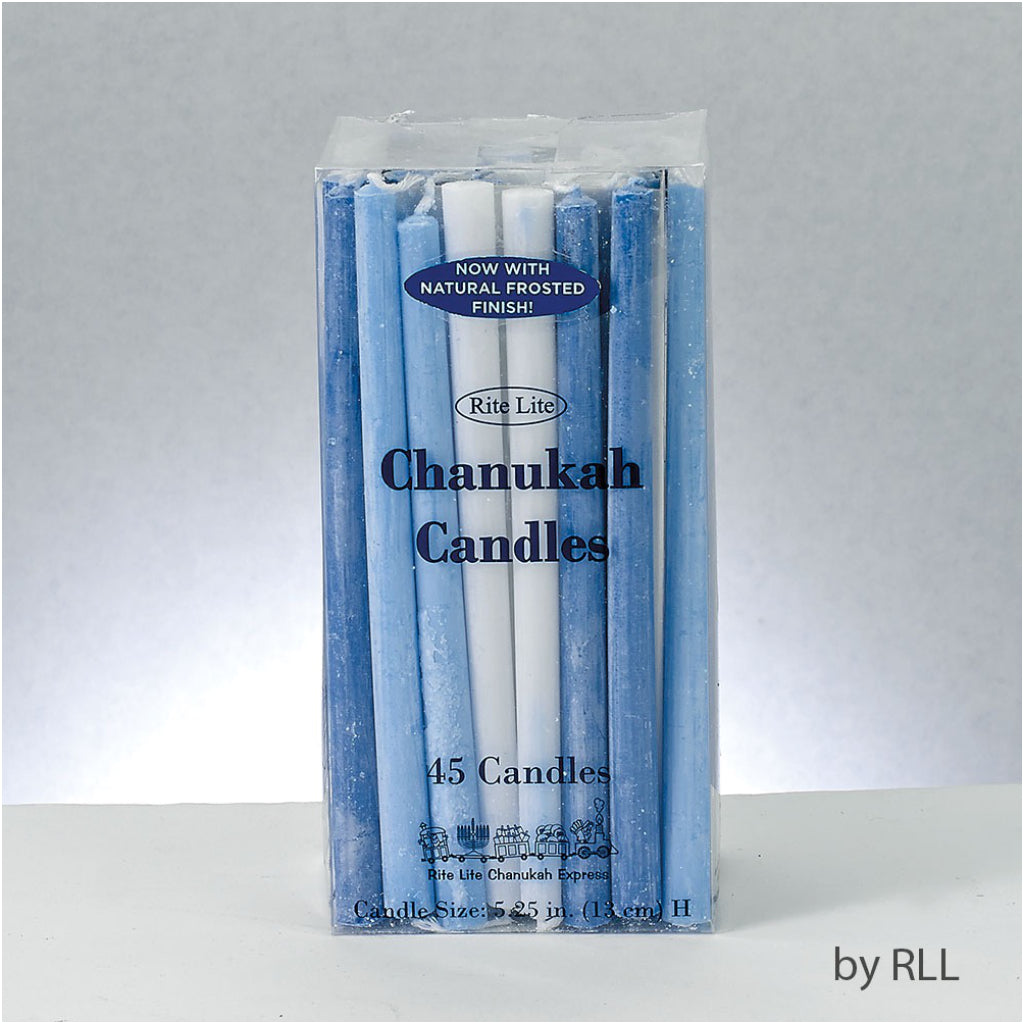Deluxe Chanukah Candles Blue