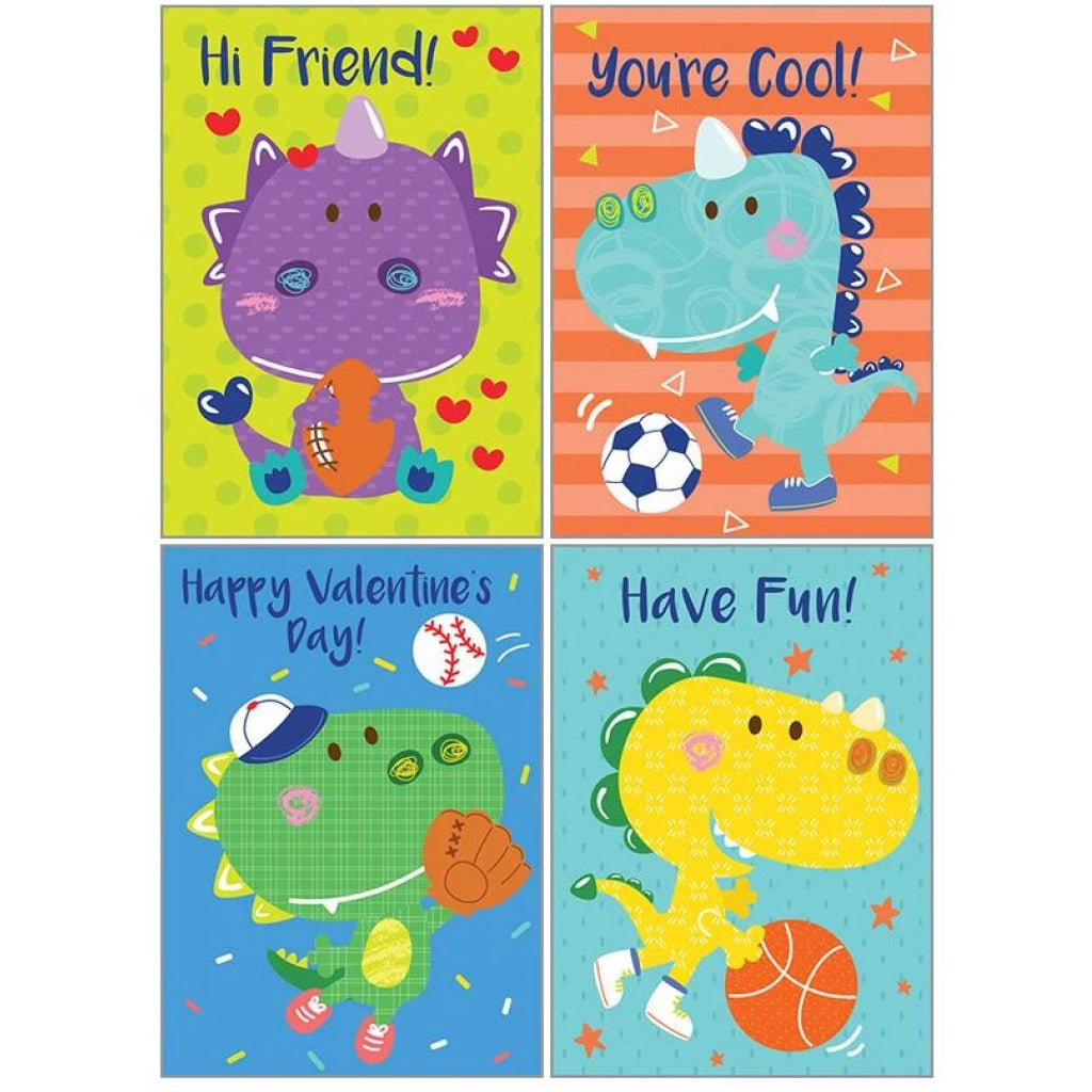 Dinosaur Mini Valentine Cards