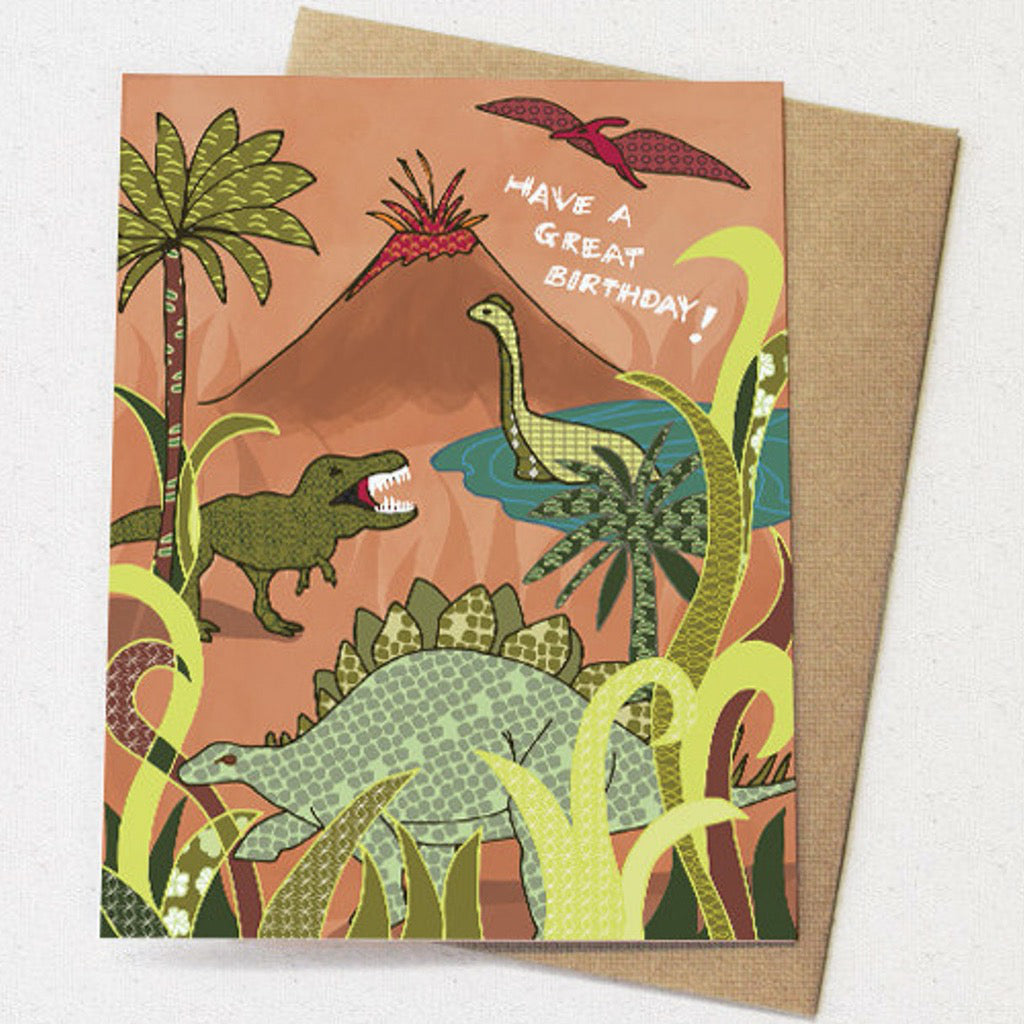 Dinosaurs Birthday Card