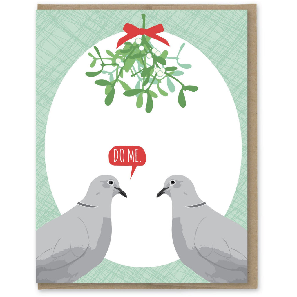 Do Me Mistletoe Doves Card