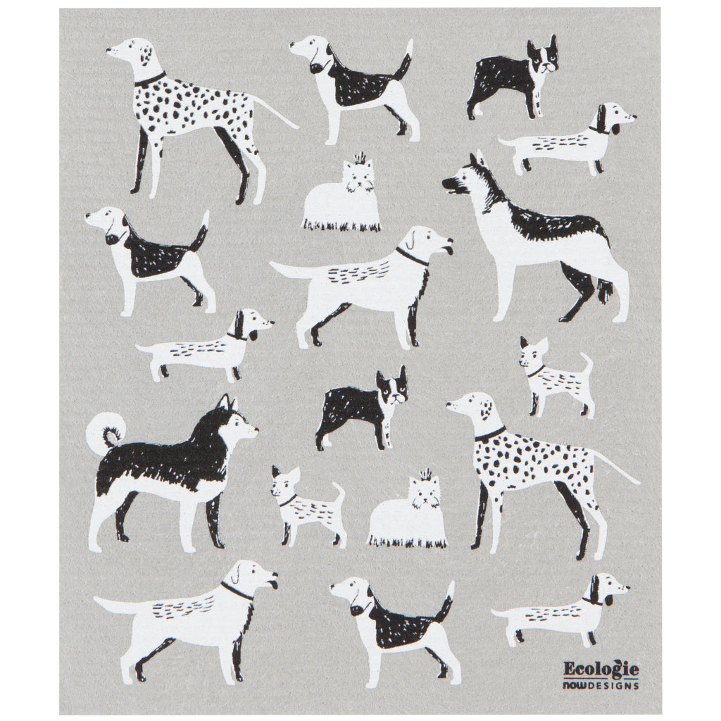 Dog Days Swedish Dish Towel