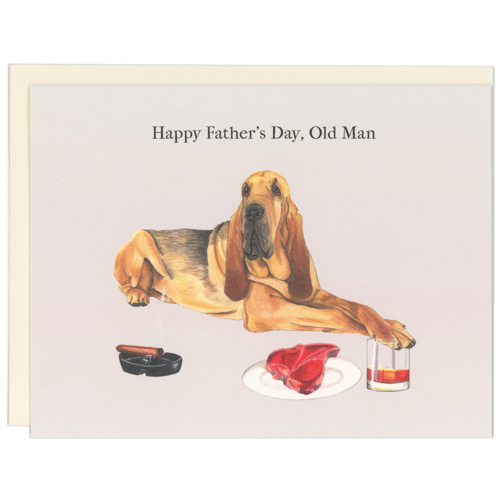 Dog Steak Whisky Cigar Dad Card