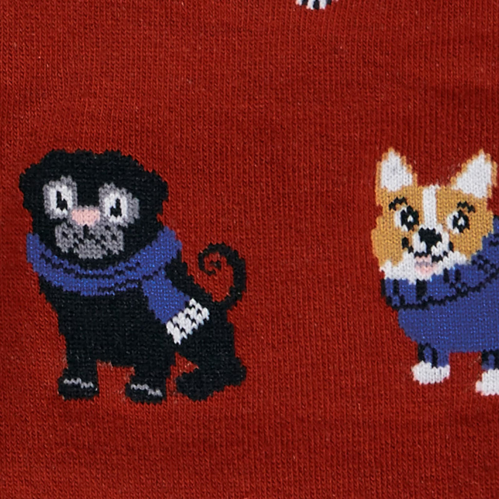 Dog Sweater Weather Knee Socks Detail
