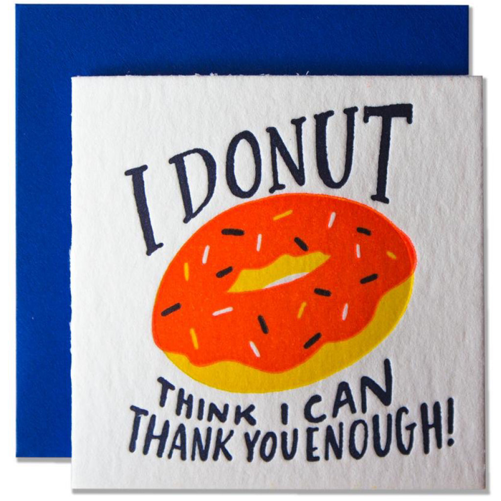 Donut Thank You Mini Card