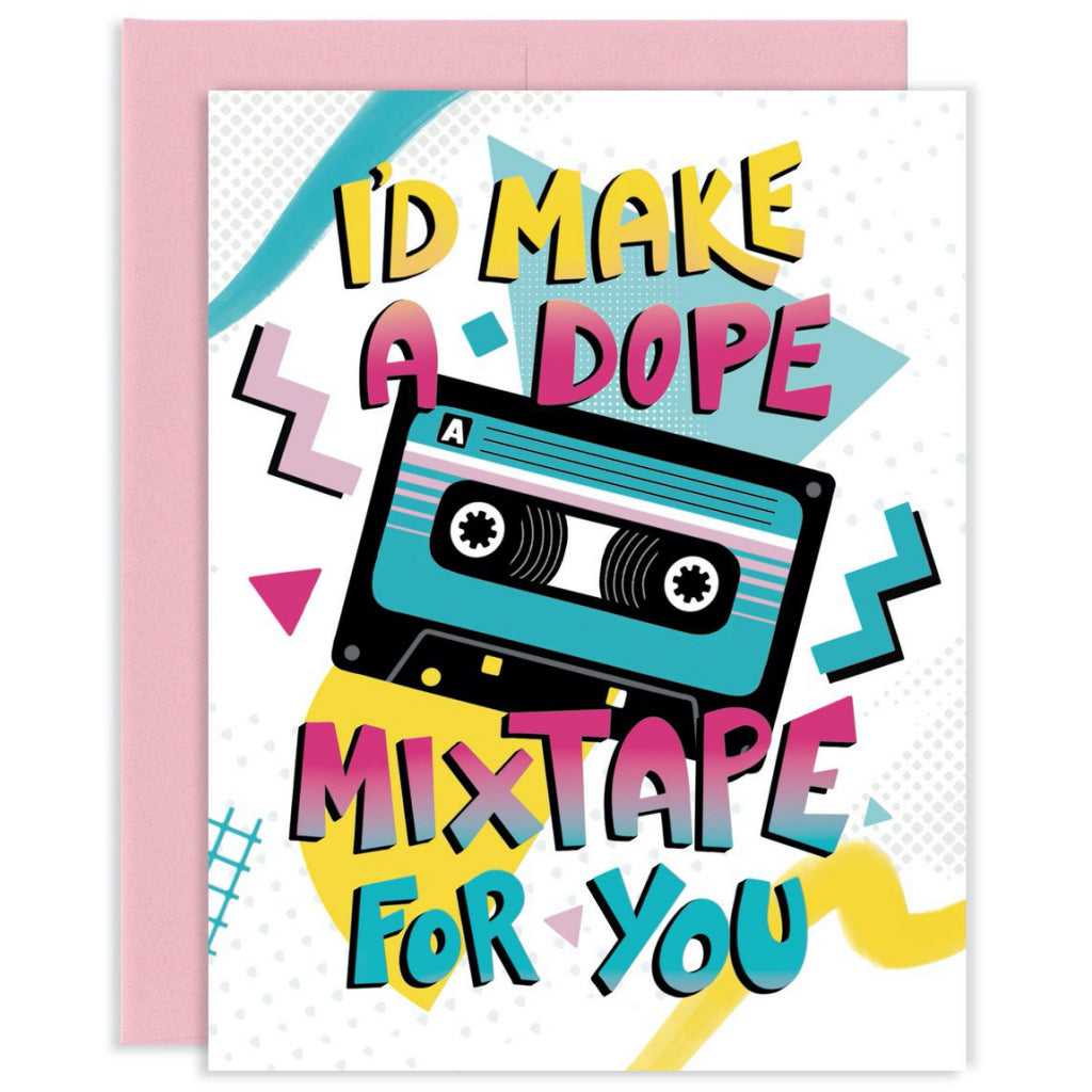Dope Mixtape 90s Card