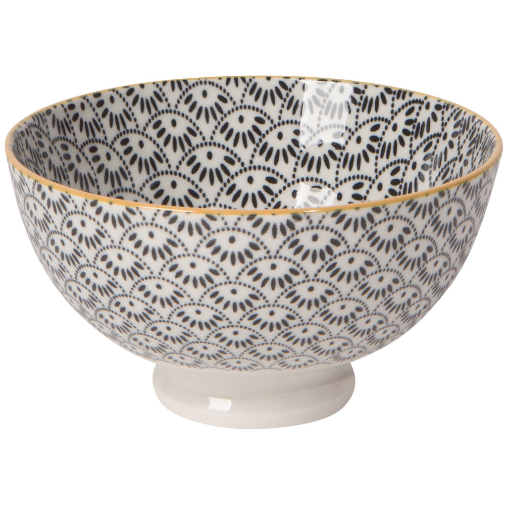 Dotted Scallop Stamped Bowl 4 Inch
