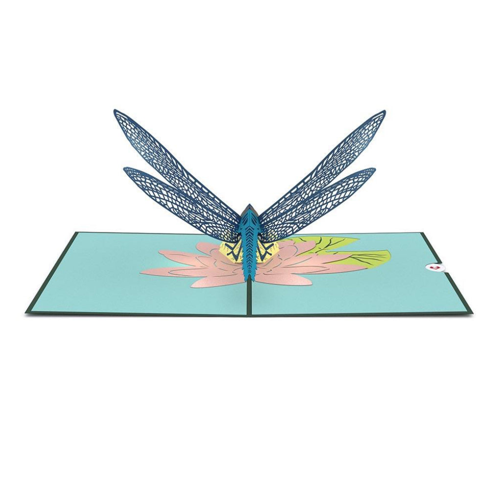 Dragonfly 3D Pop Up Card Open