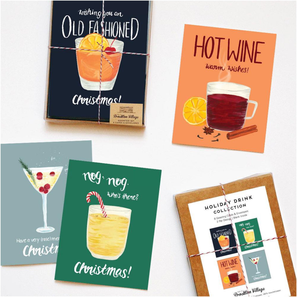 Drink Collection Holiday Boxed Cards