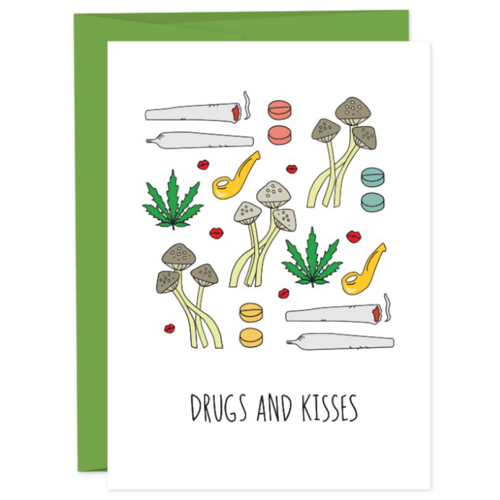 Drugs and Kisses Card