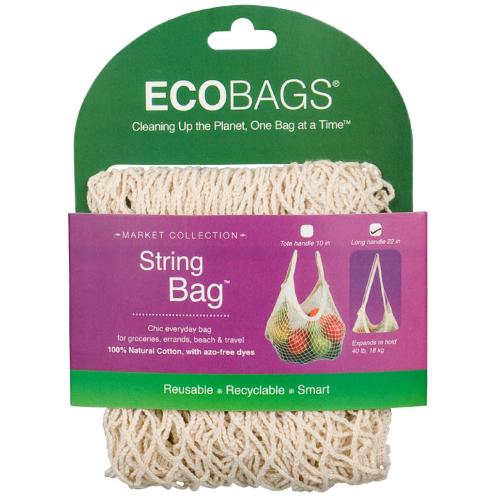 Long Handle String Bag Natural