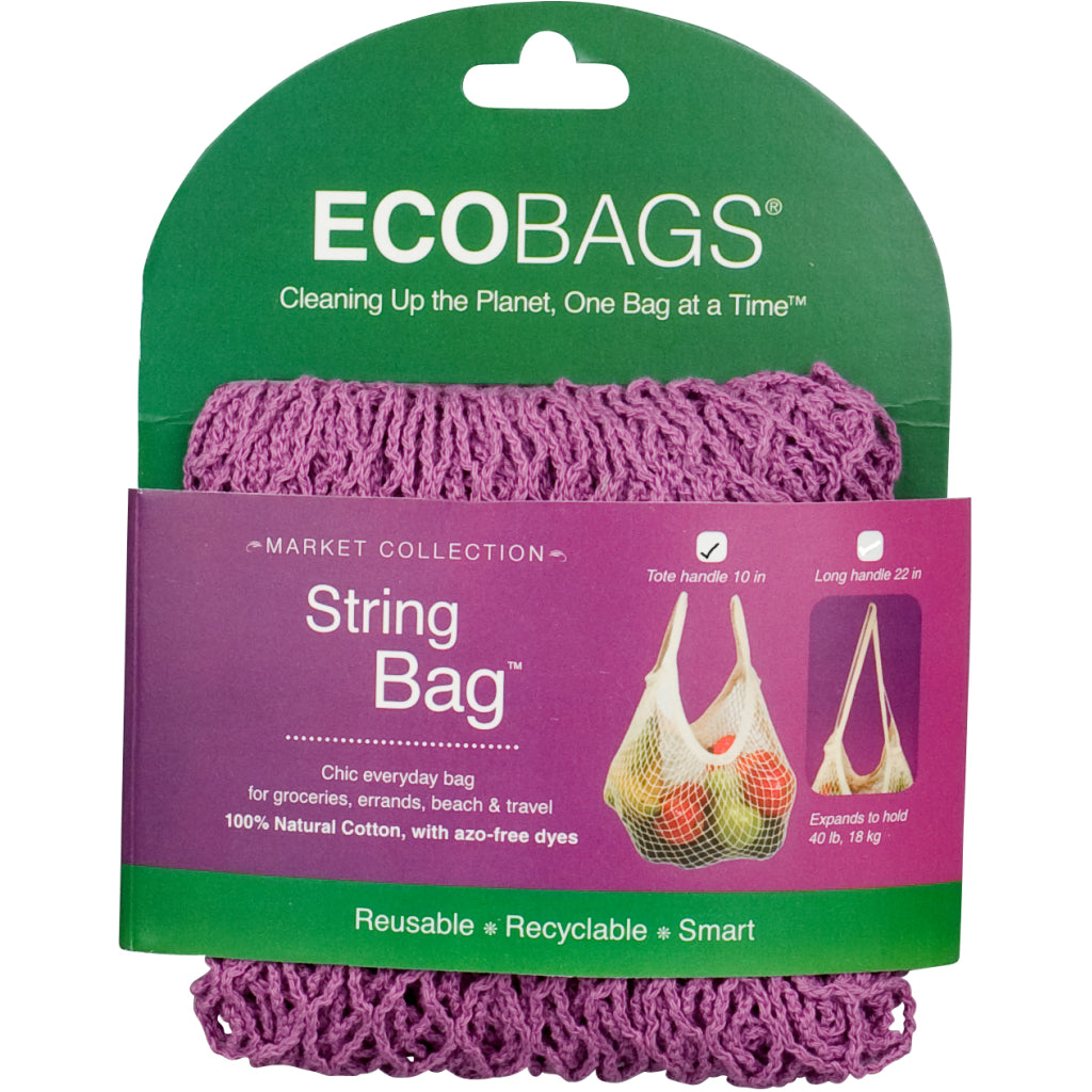 Tote Handle String Bag Raspberry