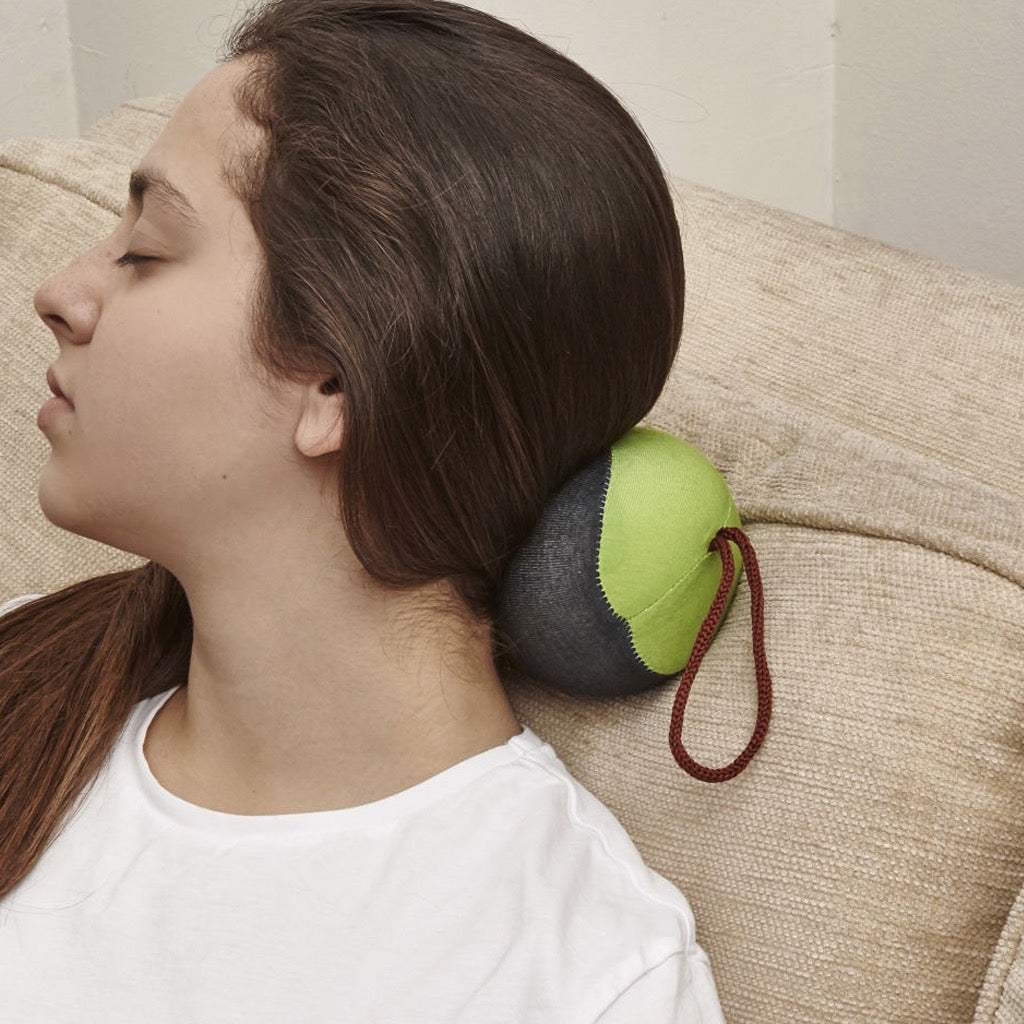 Easy Rest Memory Foam Neck Pillow In Use
