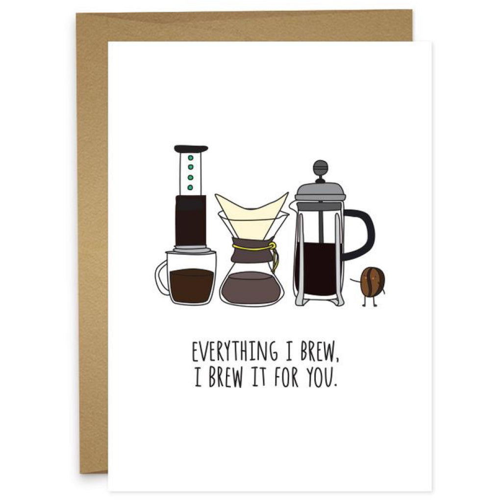 Everything I Brew Coffee Card