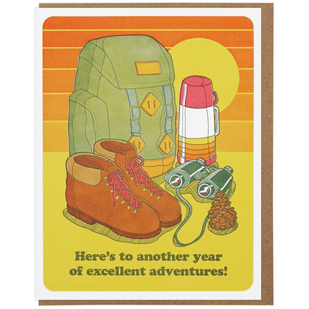 Excellent Adventures Birthday Card