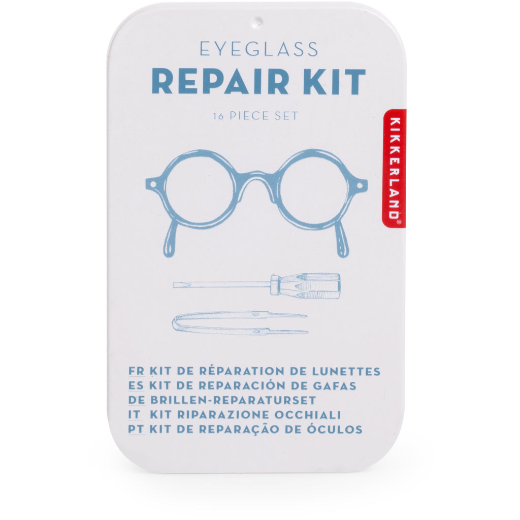 d5595f4d5549 Fixing glasses with Eyeglass Repair Kit. Kikkerland   Gadgets